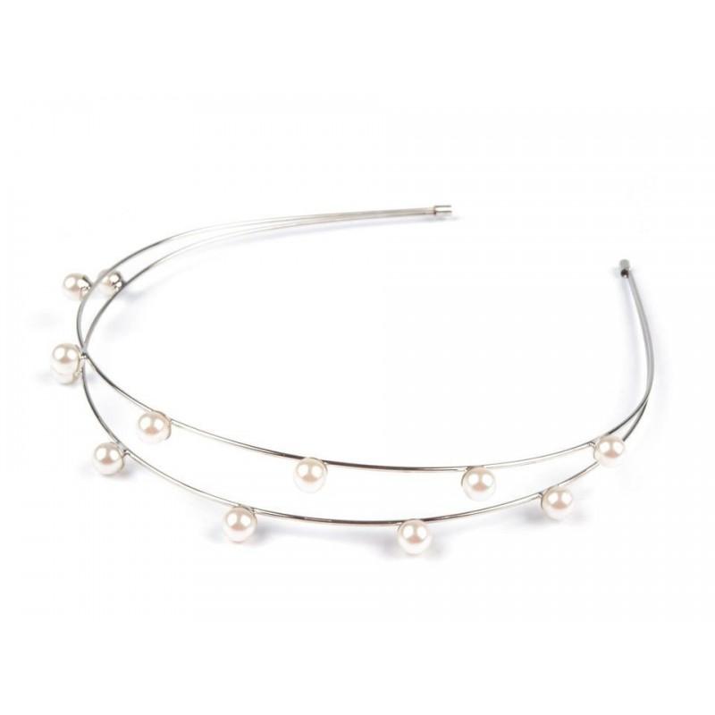 Headband mariage double perles nacrées