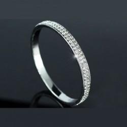 Bracelet rigide en cristal