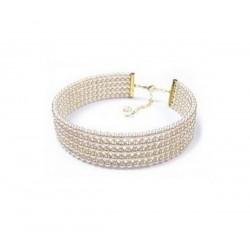 Collier mariage ras de cou perles
