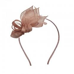 Chapeau mariage Accessoire coiffure mariage marron