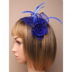 Chapeau mariage Accessoire cheveux ou broche bleu royal