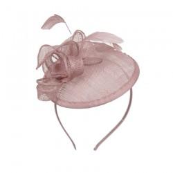 Chapeau mariage Bibi chapeau de mariage vieux rose
