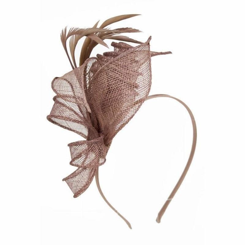 Chapeau mariage Accessoire de coiffure mariage marron