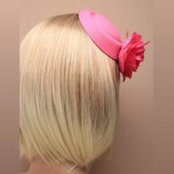 Chapeau mariage Bibi tambourin rose