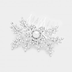 Peigne cristal et perles
