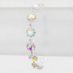 Bracelet cristal AB multicolore