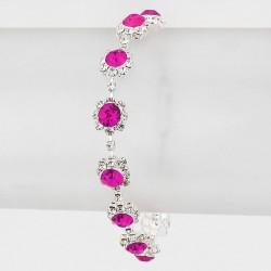 Bracelet cristal rose fuschia