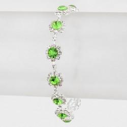 Bracelet cristal vert
