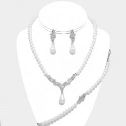 Parure bijoux mariage 4 pieces Art Déco