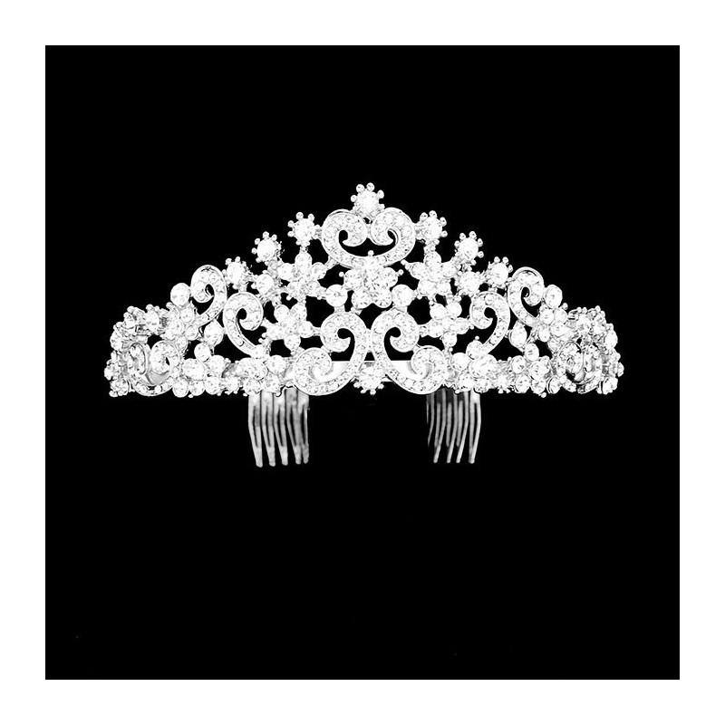 Diademe mariage cristal transparent