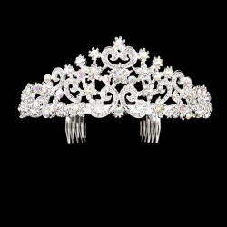 Diademe mariage cristal reflets AB