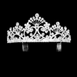 Diademe couronne de mariage strass cristal