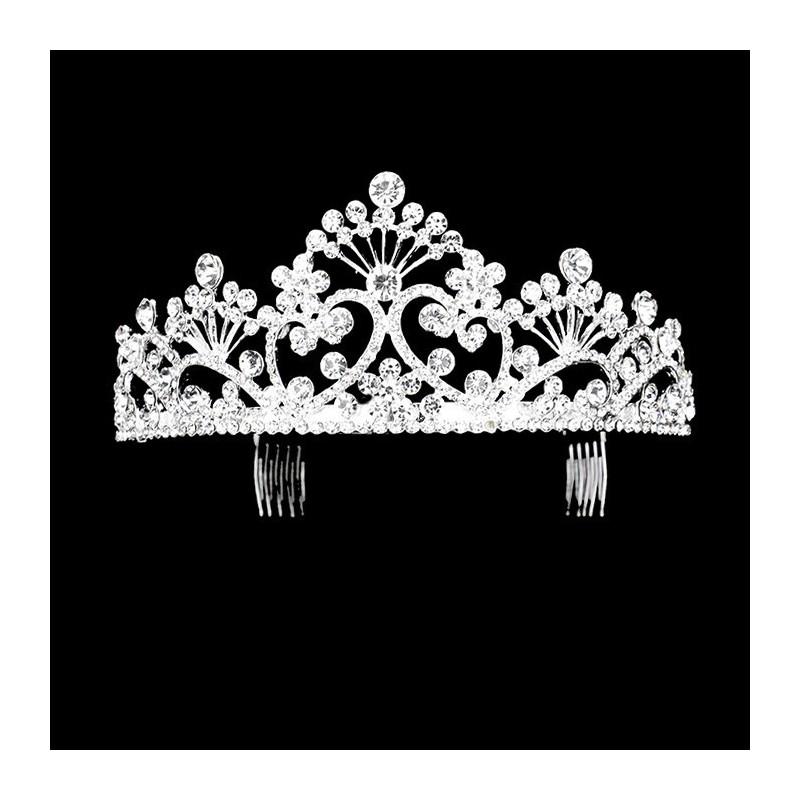 diademe couronne de mariage strass cristal. Black Bedroom Furniture Sets. Home Design Ideas