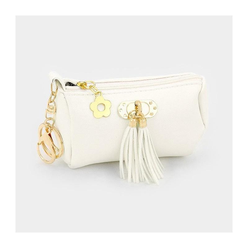 Porte clés ou charm de sac chat strass cristal argent