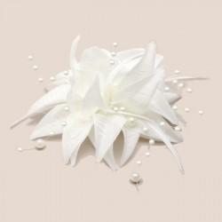 Chapeau mariage Accessoire cheveux fleur ivoire perles