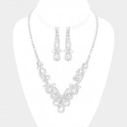Parure bijoux mariage cristal transparent