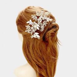 Vigne de cheveux mariage cristal et or