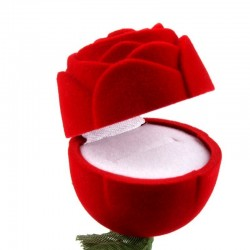 Porte alliances rose rouge