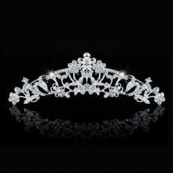 Peigne tiare mariage cristal transparent
