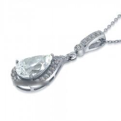 Collier goutte zopius diamant reconstitué