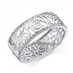 Bracelet roses et cristal
