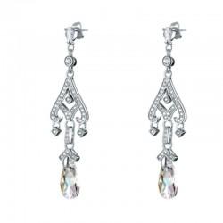 Boucles d oreilles chandelier en cristal