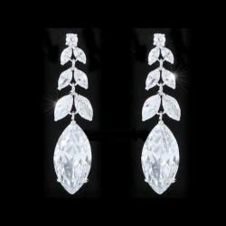 Boucles d'oreilles grappes cristal