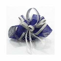 Chapeau mariage Chapeau mariage bleu et blanc