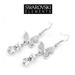 Boucles d'oreilles Swarovski papillons