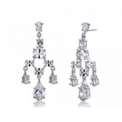 Boucles d'oreilles mariage chandelier cristal