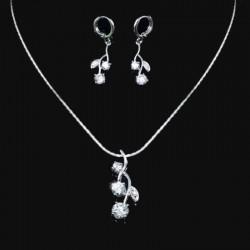 Parure bijoux mariage cristal