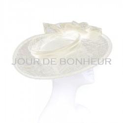 Chapeau mariage Chapeau de mariage noeud voile ivoire