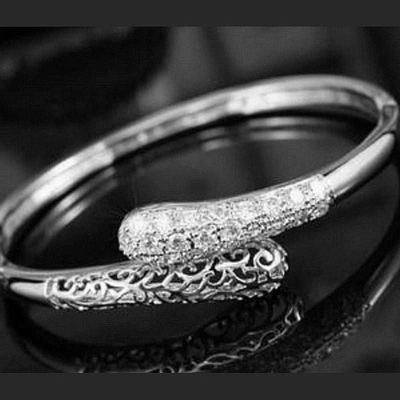 Bracelet serpent filigrane argent