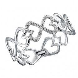 Bracelet coeurs cristal Swarovski
