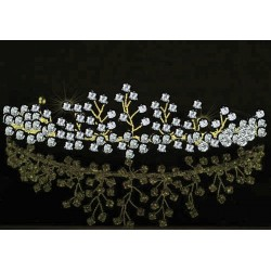 Diadème mariage doré cristal swarovski