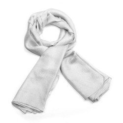 Foulard gris argent effet shiny