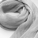 Foulard gaufré gris perle