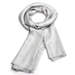 Foulard Echarpe soyeuse unie gris clair