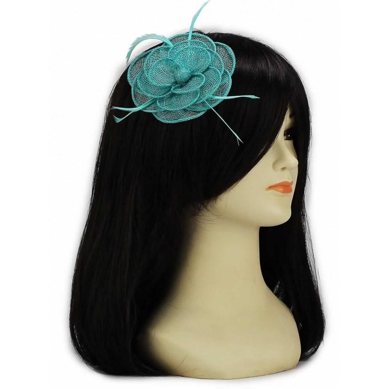 Chapeau mariage Accessoire de coiffure bleu vert turquoise