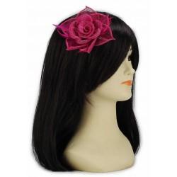 Chapeau mariage Bibi ceremonie en sisal rose fuchsia
