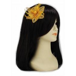 Chapeau mariage Bibi fleur cheveux jaune doré