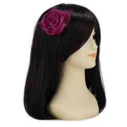 Chapeau mariage Bibi fleur cheveux fuchsia violet