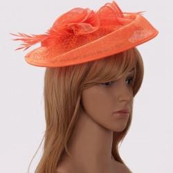 Chapeau mariage Chapeau mariage orange