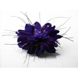 Grosse fleur  plumes violet