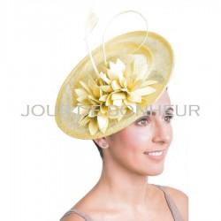 Chapeau mariage Chapeau mariage fleurs jaune