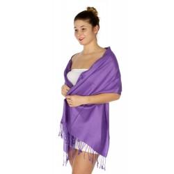 Foulard Etole pashmina violet