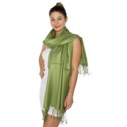 Foulard Etole pashmina vert