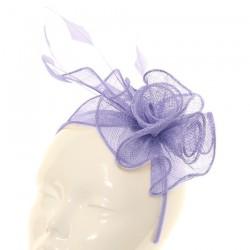 Chapeau mariage Accessoire de coiffure bibi mauve clair