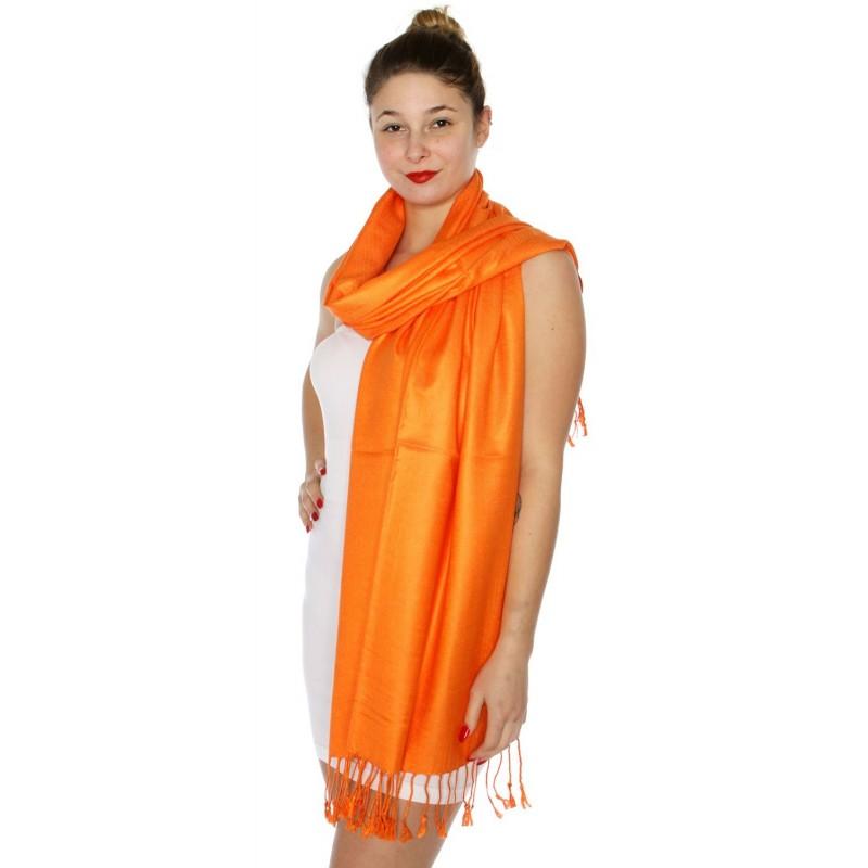 Foulard Etole pashmina orange