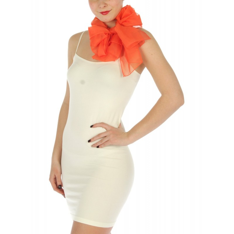 Foulard Etole voile léger orange
